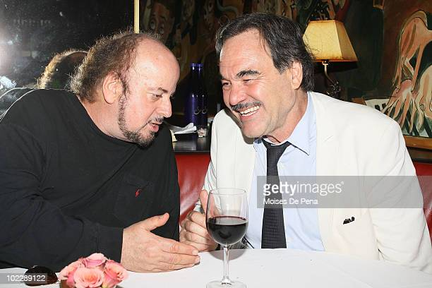James Toback and Oliver Stone attend the 'South Of The Border' premiere after party at Monkey Bar on June 21 2010 in New York City
