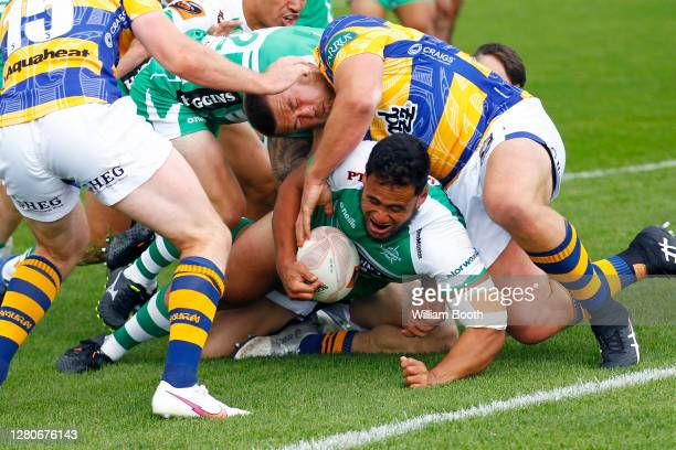 James Tofa heads for the line during the round 6 Mitre 10 Cup match between Manawatu and the Bay of Plenty at Central Energy Trust Arena on October...