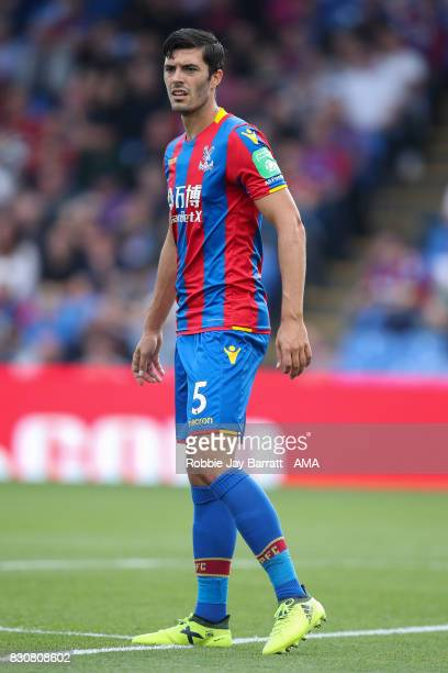 James Tomkins of Crystal Palace during the Premier League match between Crystal Palace and Huddersfield Town at Selhurst Park on August 12 2017 in...