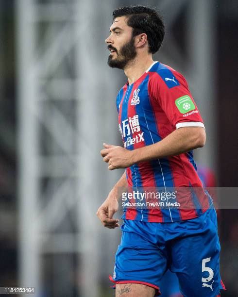 James Tomkins of Crystal Palace looks on during the Premier League match between Crystal Palace and Liverpool FC at Selhurst Park on November 23 2019...