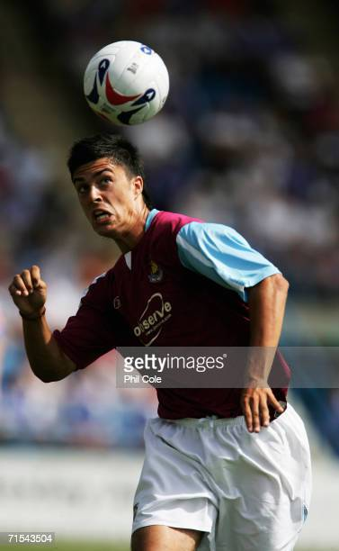 James Tomkins of West Ham United in action during the Pre Season Friendly Match between Gillingham and West Ham at Priestfield Stadium on July 29...