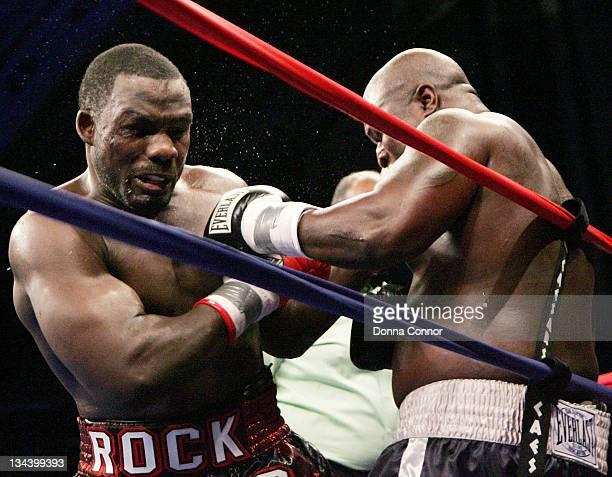James Toney and Hasim Rahman during WBC Heavyweight Championship Fight - Hasim Rahman vs James Toney - March 18, 2006 at Boardwalk Hall in Atlantic...