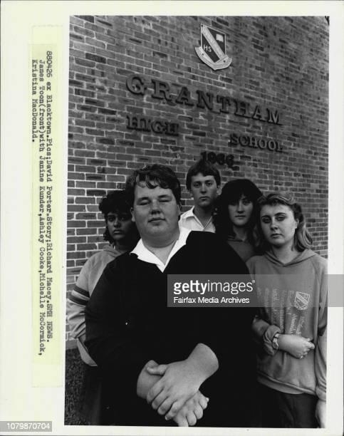 James Toon with Janine Kunder Ashley Cooke Michelle McCormick Kristina MacDonald April 26 1988