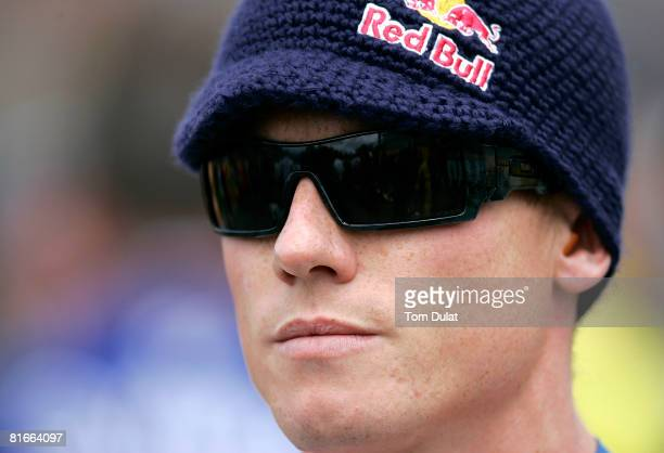 James Toseland of Great Britain and Tech 3 Yamaha looks on before the British Moto GP at Donington Park on June 22, 2008 in Donington, England.