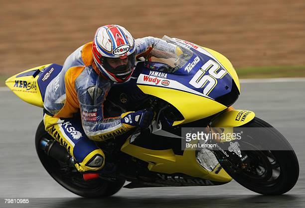 James Toseland of Great Britain and Tech3 Yamaha in action during MotoGP Testing at the Circuito de Jerez on February 17 2008 in Jerez Spain