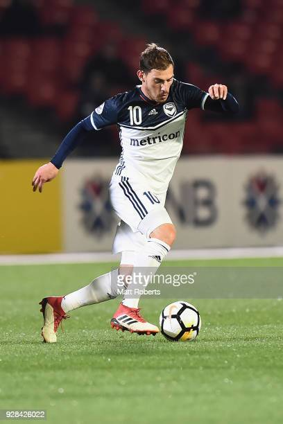 James Troisi of Melbourne Victory controls the ball during the AFC Champions League Group F match between Kawasaki Frontale and Melbourne Victory at...