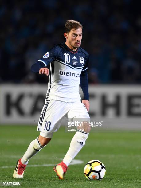 James Troisi of Melbourne Victory in action during the AFC Champions League Group F match between Kawasaki Frontale and Melbourne Victory at Todoroki...