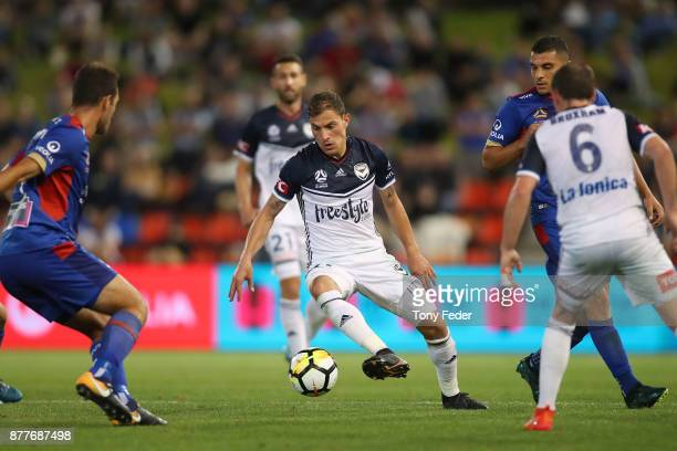 James Troisi of the Victory controls the ball during the round eight ALeague match between the Newcastle Jets and the Melbourne Victory at McDonald...