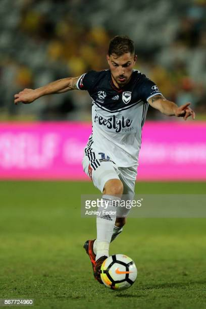 James Troisi of the Victory in action during the round four ALeague match between the Central Coast Mariners and the Melbourne Victory at Central...