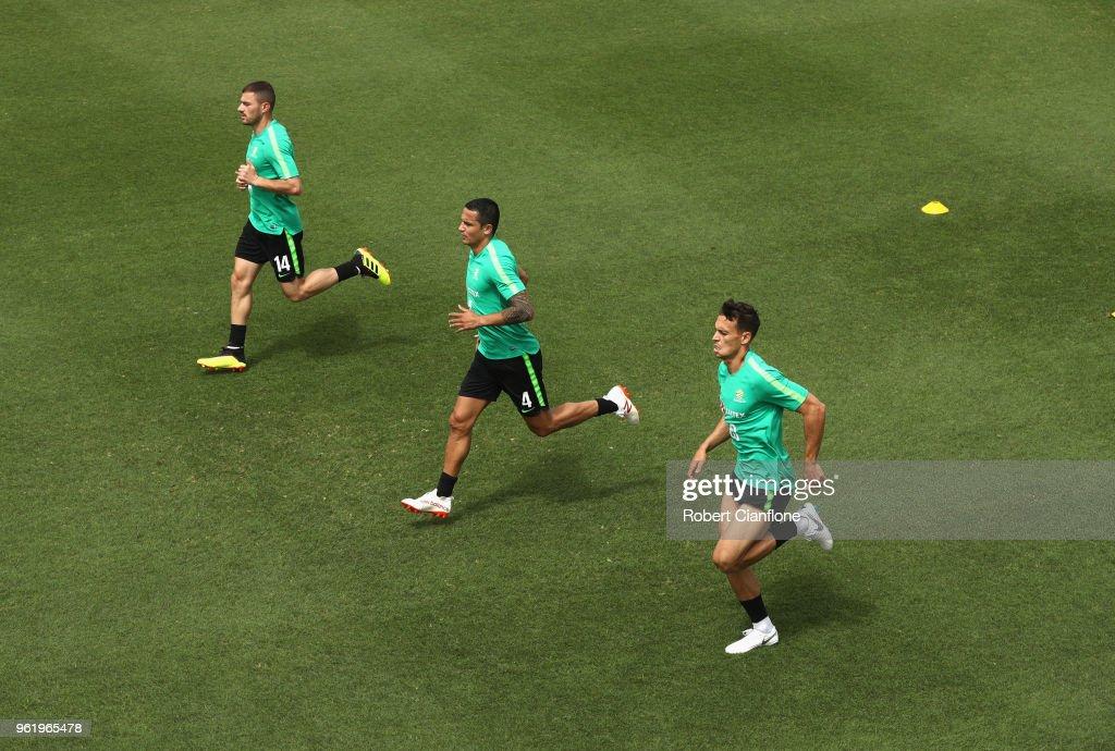 Australian Socceroos Media Opportunity & Training Session : News Photo