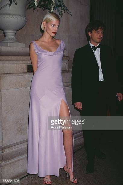 James Truman and German model and actress Nadja Auermann attending a benefit held by the Costume Institute USA 1994