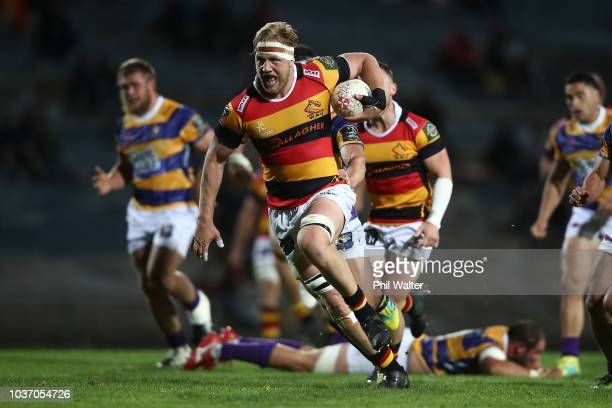 James Tucker of Waikato breaks away during the round six Mitre 10 Cup match between Bay of Plenty and Waikato at Rotorua International Stadium on...