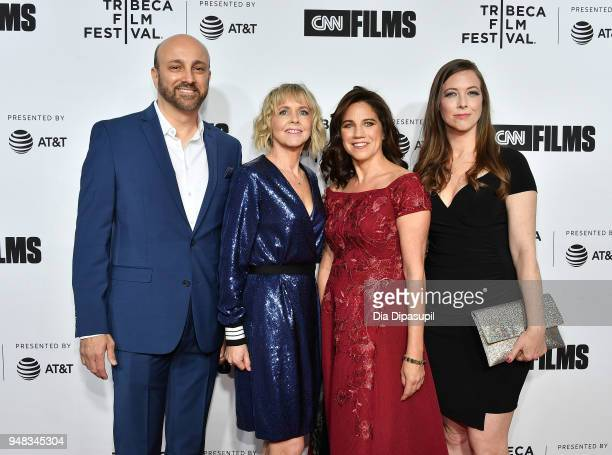 James Tumminia Bronwyn Berry Lisa Dapolito and Meryl Goldsmith attend the opening night gala of Love Gilda during the 2018 Tribeca Film Festival at...