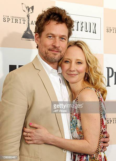 James Tupper and Anne Heche arrive at the 2011 Film Independent Spirit Awards at Santa Monica Beach on February 26 2011 in Santa Monica California