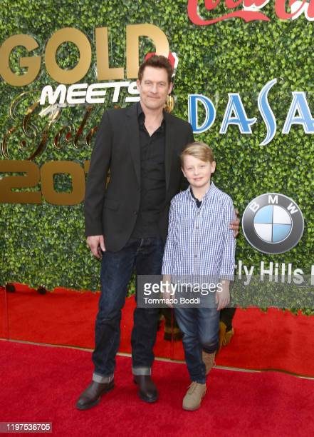 James Tupper and Atlas Heche Tupper attend the 7th Annual Gold Meets Golden at Virginia Robinson Gardens and Estate on January 04 2020 in Los Angeles...