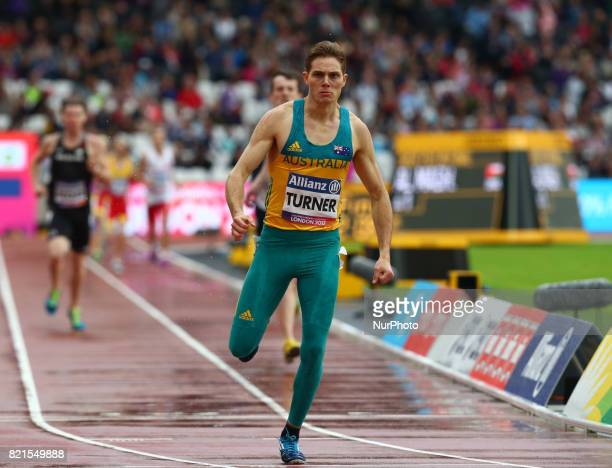 James Turner of Australia winner of Men's 800m T36 Final during World Para Athletics Championships at London Stadium in London on July 23 2017