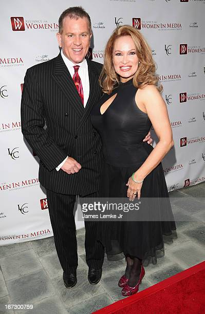 James V Bickford IV and Dr Lisa Christiansen attend 56th Annual Genii Awards Show held at the Skirball Cultural Center on April 23 2013 in Los...