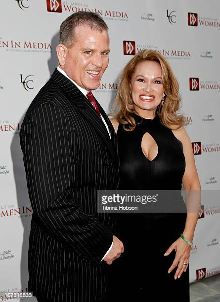 James V Bickford IV and Lisa Christiansen attend the 56th annual Genii Awards at Skirball Cultural Center on April 23 2013 in Los Angeles California