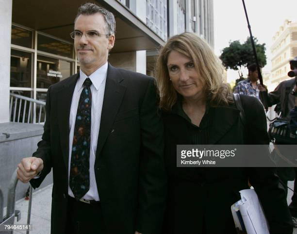 James Valente former vice president of Bay Area Laboratory CoOperative and his attorney Ann Moorman exit federal courts in San Francisco Valente...