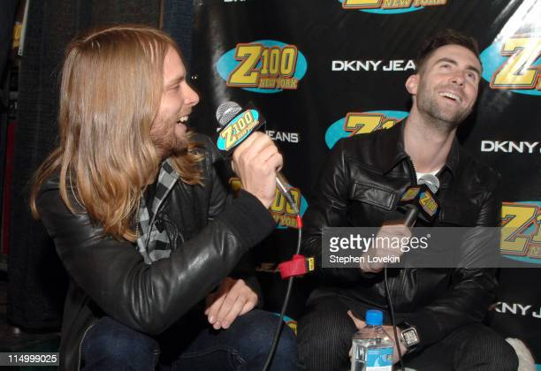 James Valentine and Adam Levine of Maroon 5 *EXCLUSIVE*
