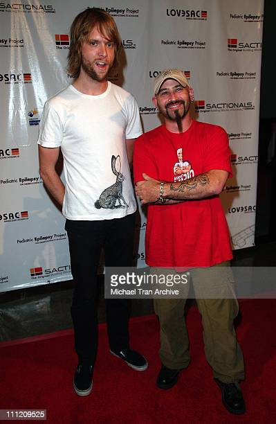 James Valentine and Fish during LoveSac and Pediatric Epilepsy Project Hosts the Celebrity Signed Sactionals Tour at The Annex @ Hollywood Highland...