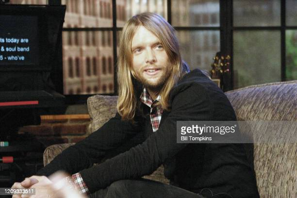 James Valentine of Maroon 5 appears on the TV show PRIVATE SESSIONS on January 27 2008 in New York City