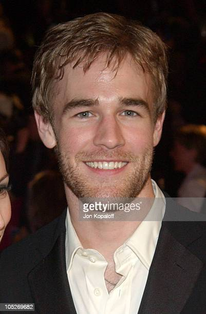 James Van Der Beek and Heather McComb during 2004 Vanity Fair Oscar Party at Mortons in Beverly Hills California United States