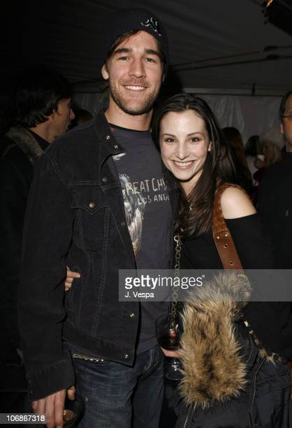 James Van Der Beek and Heather McComb during 2006 Sundance Film Festival Entertainment Weekly Sundance Opening Weekend Party Inside at The Shop in...