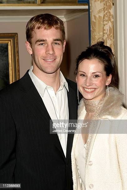 James Van Der Beek and Heather McComb during Signature Theatre Company Honor Edward Albee and Elizabeth Ireland McCann at Essex House in New York New...