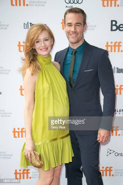 James Van Der Beek and Kimberly Van Der Beek attend the 'Labor Day' premiere during the 2013 Toronto International Film Festival at Ryerson Theatre...