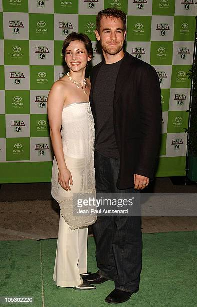 James Van Der Beek and wife Heather McComb during 13th Annual Environmental Media Awards at The Ebell Theatre in Los Angeles California United States