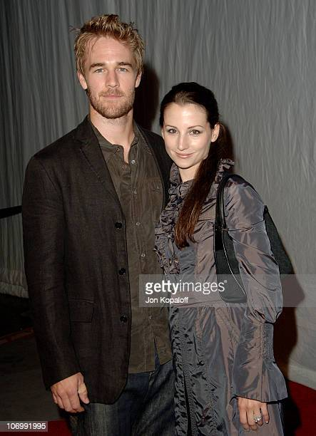 James Van Der Beek and wife Heather McComb during Opening of Cirque Du Soleil's Delirium Arrivals at Staples Center in Los Angeles California United...