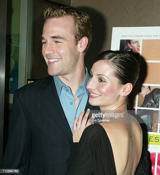 James Van Der Beek Heather McComb during New York Special Screening of The Rules of Attraction at Clearview Chelsea West in New York City New York...