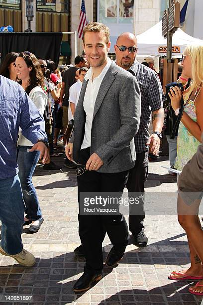 James Van Der Beek is sighted at The Grove on April 10, 2012 in Los Angeles, California.