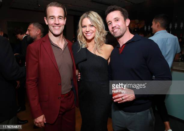 James Van Der Beek, Kaitlin Olson and Rob McElhenney attend Vanity Fair and FX's annual Primetime Emmy Nominations Party on September 21, 2019 in...
