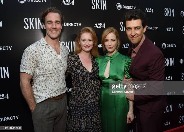 James Van Der Beek Kimberly Van Der Beek Jaime Ray Newman and Guy Nattiv attend the Los Angeles Special Screening of SKIN at ArcLight Hollywood on...