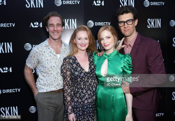 James Van Der Beek Kimberly Van Der Beek producer Jaime Ray Newman and director Guy Nattiv attend the LA Special Screening Of A24's 'Skin' at...