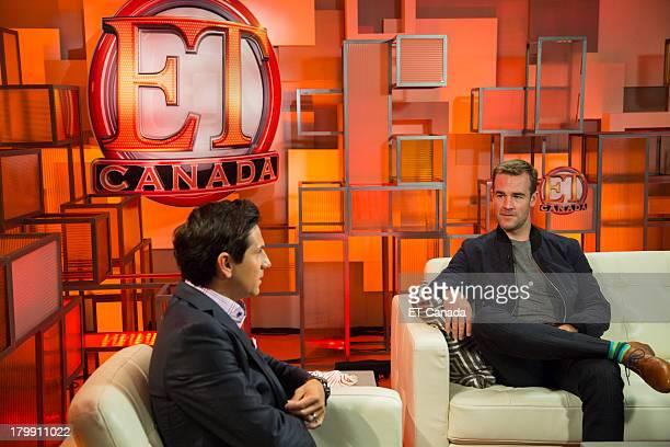 James Van Der Beek visits the ET Canada Festival Central Lounge at the 2013 Toronto International Film Festival on September 7 2013 in Toronto Canada