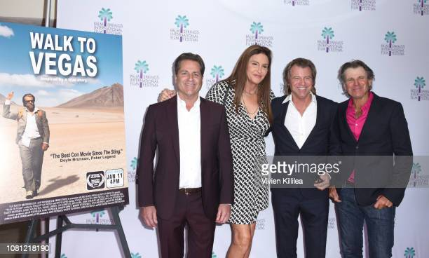 James Van Patten Caitlyn Jenner Vincent Van Patten and Nels Van Patten attend a screening of Walk To Vegas at the 30th Annual Palm Springs...
