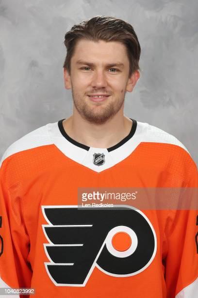 James van Riemsdyk of the Philadelphia Flyers poses for his official headshot for the 20182019 season on September 13 2018 at the Virtua Flyers Skate...
