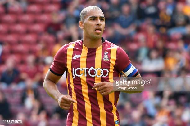 James Vaughan of Bradford City during the Pre-Season Friendly match between Bradford City and Wigan athletic at Utilita Energy Stadium on July 20,...