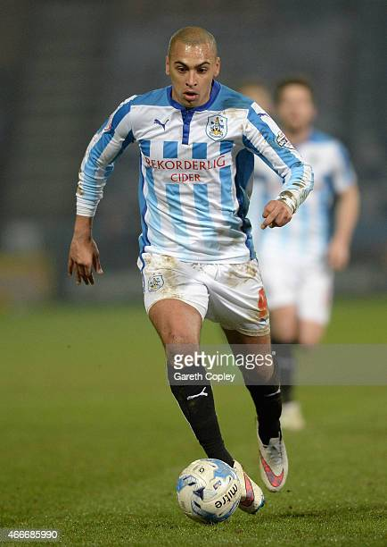 James Vaughan of Huddersfield Town during the Sky Bet Championship between Huddersfield Town and Norwich City at John Smiths Stadium on March 17 2015...