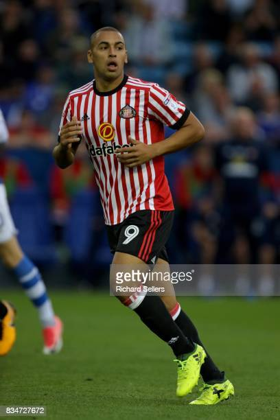 James Vaughan of Sunderland during the Sky Bet Championship match between Sheffield Wednesday and Sunderland at Hillsborough on August 16 2017 in...