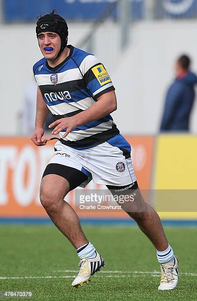 James Vecchio of Bath during the The U18 Academy Finals Day match between Bath and Gloucester at Allianz Park on February 17 2014 in Barnet England