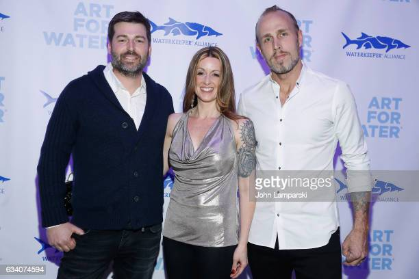 James Verbicky Kerri Devine and Mat Devine attend 2017 Art For Water To Benefit Waterkeeper Alliance at Sotheby's on February 6 2017 in New York City