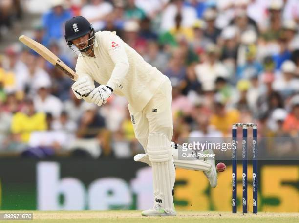 James Vince of England bats during day four of the Third Test match during the 2017/18 Ashes Series between Australia and England at WACA on December...