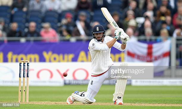 James Vince of England bats during day one of the 2nd Investec Test match between England and Sri Lanka at Emirates Durham ICG on May 27 2016 in...