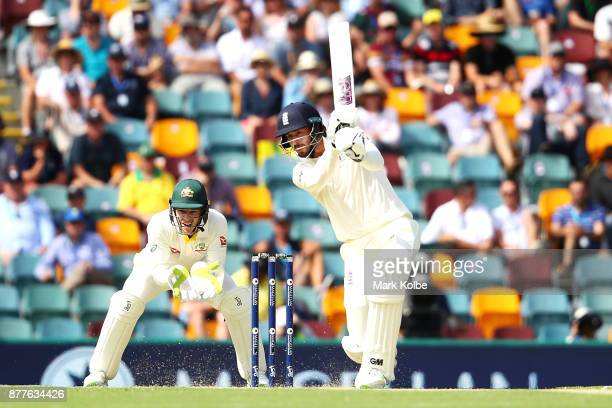 James Vince of England bats during day one of the First Test Match of the 2017/18 Ashes Series between Australia and England at The Gabba on November...