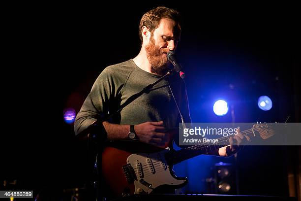 James Vincent McMorrow performs on stage at Manchester Cathedral on January 24 2014 in Manchester United Kingdom