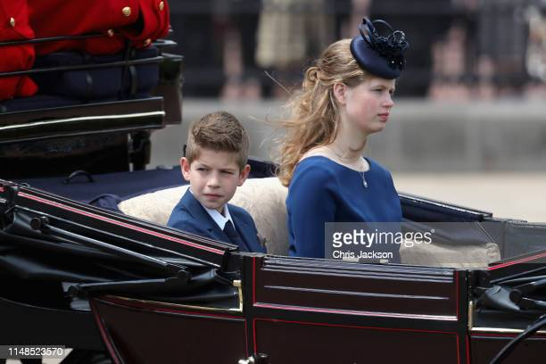 James Viscount Severn and Lady Louise Windsor during Trooping The Colour the Queen's annual birthday parade on June 8 2019 in London England